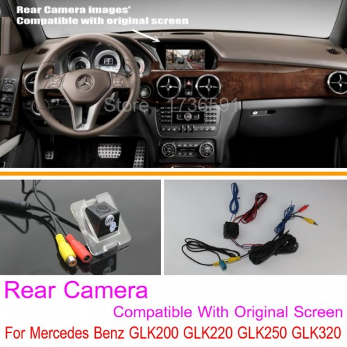 For Mercedes Benz GLK200 GLK220 GLK250 GLK320 / RCA & Original Screen Compatible / Car Rear View Camera / Back Up Reverse Camera