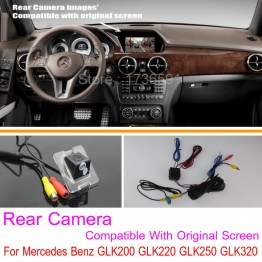 For Mercedes Benz GLK200 GLK220 GLK250 GLK320 / RCA & Original Screen Compatible / Car Rear View Camera / Back Up Reverse Camera