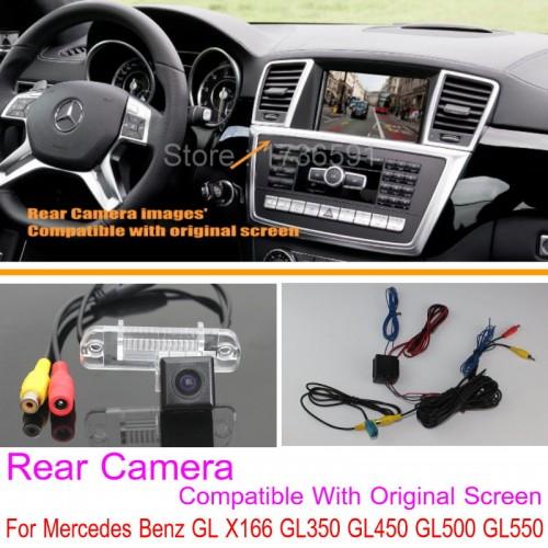 For Mercedes Benz GL X166 GL350 GL450 GL500 GL550 RCA & Original Screen Compatible / Rear View Camera / Back Up Reverse Camera