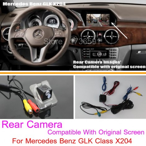 For Mercedes Benz GLK Class X204 RCA & Original Screen Compatible / Car Rear View Camera Sets / Back Up Reverse Camera