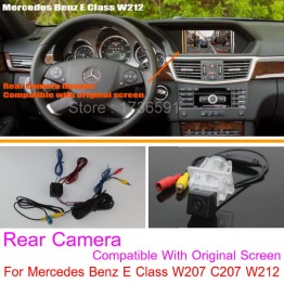 For Mercedes Benz E Class W207 C207 / RCA & Original Screen Compatible Car Rear View Camera Sets Back Up Reverse Camera