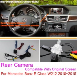 For Mercedes Benz E Class W212 2010~2016 RCA & Original Screen Compatible / Car Rear View Camera Back Up Reverse Camera