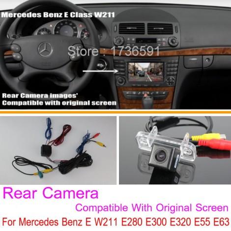 For Mercedes Benz E W211 E280 E300 E320 E55 E63 / Car Rear View Reverse Camera Sets / RCA & Original Screen Compatible