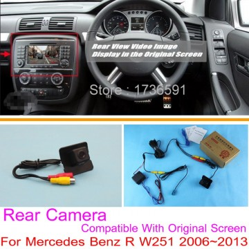 For Mercedes Benz R W251 2006~2013 / RCA & Original Screen Compatible / Car Rear View Camera Sets / HD Back Up Reverse Camera