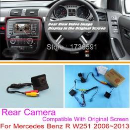 For Mercedes Benz R W251 2006~2013 / RCA & Original Screen Compatible / Car Rear View Camera Sets / HD Back Up Reverse Camera