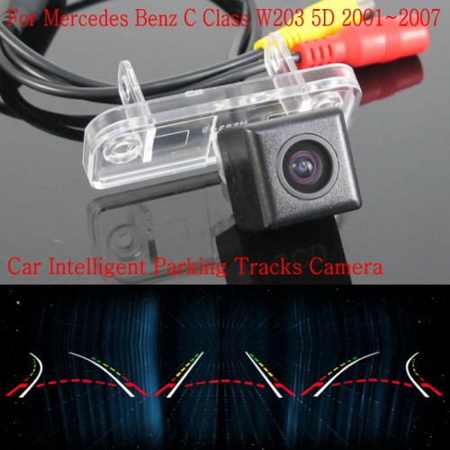 Car Intelligent Parking Tracks Camera FOR Mercedes Benz C Class W203 5D / Back up Reverse Rear View Camera / HD CCD