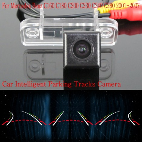 Car Intelligent Parking Tracks Camera FOR Mercedes Benz C160 C180 C200 C230 C240 C280 Back up Reverse Camera / Rear View Camera