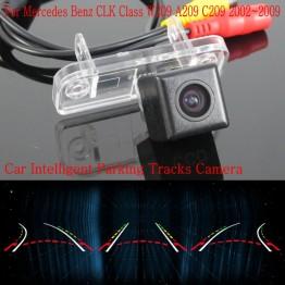 Car Intelligent Parking Tracks Camera FOR Mercedes Benz CLK Class W209 A209 C209 / HD Reverse Camera / Rear View Camera