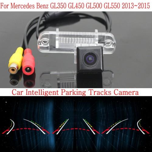 Car Intelligent Parking Tracks Camera FOR Mercedes Benz GL350 GL450 GL500 GL550 / HD Back up Reverse Rear View Camera