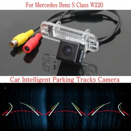 Car Intelligent Parking Tracks Camera FOR Mercedes Benz W220 1998~2005 / HD Back up Reverse Camera / Rear View Camera