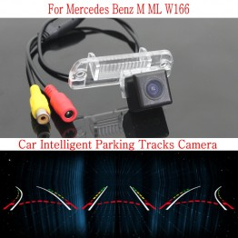 Car Intelligent Parking Tracks Camera FOR Mercedes Benz ML M Class MB W166 / HD Back up Reverse Camera / Rear View Camera