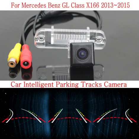 Car Intelligent Parking Tracks Camera FOR Mercedes Benz GL Class X166 2013~2015 /HD Back up Reverse Camera / Rear View Camera