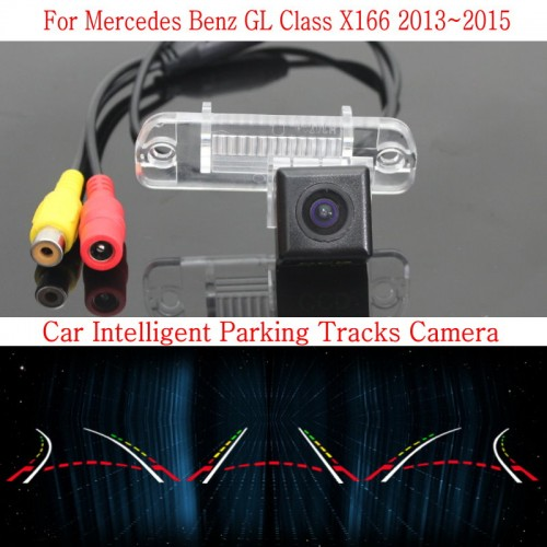 Car Intelligent Parking Tracks Camera FOR Mercedes Benz GL Class X166 2013~2015 /HD Back up Reverse Camera / Rear View Camera