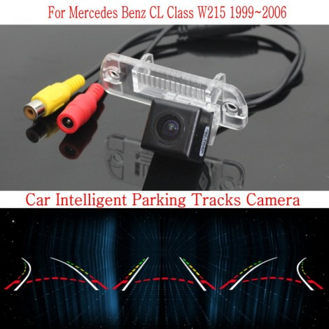 Car Intelligent Parking Tracks Camera FOR Mercedes Benz CL Class W215 1999~2006 / HD Back up Reverse Camera / Rear View Camera