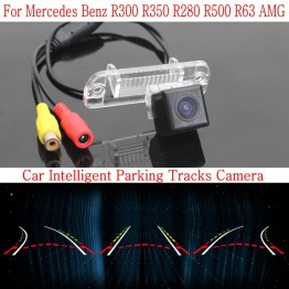 Car Intelligent Parking Tracks Camera FOR Mercedes Benz R300 R350 R280 R500 R63 / HD Back up Reverse Camera / Rear View Camera