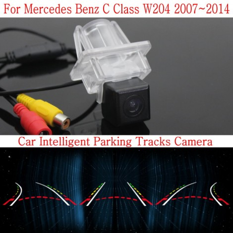 Car Intelligent Parking Tracks Camera FOR Mercedes Benz C Class W204 2007~2014 / HD Back up Reverse Rear View Camera