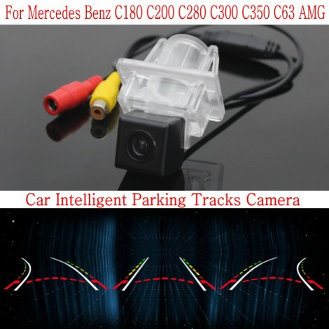 Car Intelligent Parking Tracks Camera FOR Mercedes Benz C180 C200 C280 C300 C350 C63 / Back up Reverse Camera / Rear View Camera
