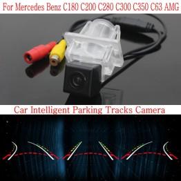 Car Intelligent Parking Tracks Camera FOR Mercedes Benz C180 C200 C280 C300 C350 C63 / Back up Reverse Camera / Rear View Camera