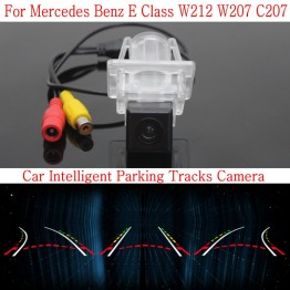 Car Intelligent Parking Tracks Camera FOR Mercedes Benz E Class W212 W207 C207 / HD Back up Reverse Rear View Camera