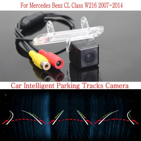 Car Intelligent Parking Tracks Camera FOR Mercedes Benz CL Class W216 2007~2014 / HD Back up Reverse Camera / Rear View Camera