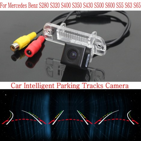 Car Intelligent Parking Tracks Camera FOR Mercedes Benz S280 S320 S400 S350 S430 S500 S600 S55 S63 S65 / Rear View Camera