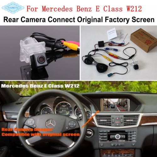 For Mercedes Benz E Class W212 2009~2016 Camera Connect Original Factory Screen Monitor / HD Rear View Back Up Camera