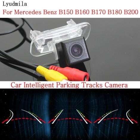 Car Intelligent Parking Tracks Camera FOR Mercedes Benz B150 B160 B170 B180 B200HD CCD Back up Reverse Rear View Camera