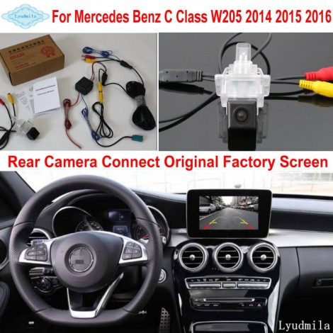 For Mercedes Benz C W205 2014 2015 2016 RCA & Original Screen Compatible Car Rear View Camera / Back Up Reverse Camera