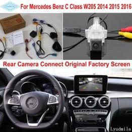 For Mercedes Benz C W205 2014 2015 2016 RCA & Original Screen Compatible Car Rear View Camera / Back Up Reverse Camera