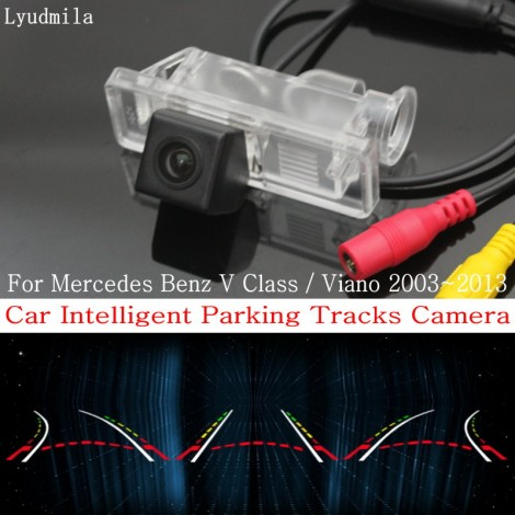Car Intelligent Parking Tracks Camera FOR Mercedes Benz V Class / Viano Back up Reverse Camera / Rear View Camera