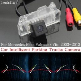 Car Intelligent Parking Tracks Camera FOR Mercedes Benz Valente / Vito HD CCD Back up Reverse Camera / Rear View Camera