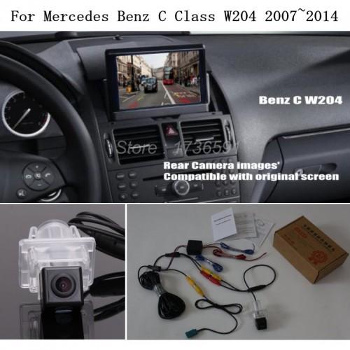 Car Rear View Camera For Mercedes Benz MB C Class W204 2007~2014 - Back Up Reverse Camera RCA & Original Screen Compatible