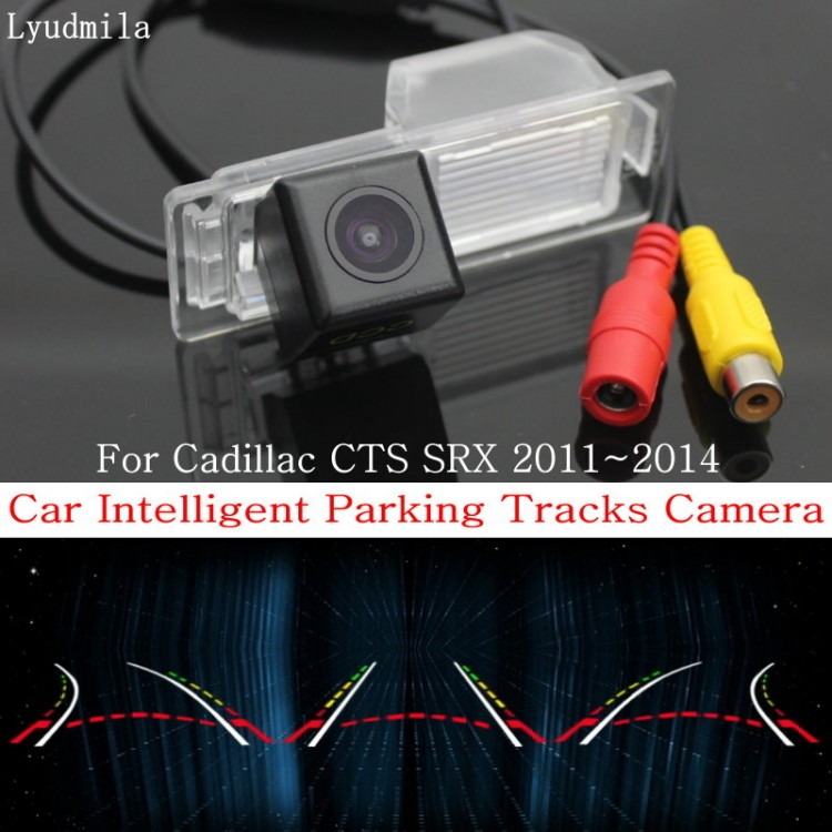 car intelligent parking tracks camera for cadillac cts srx 2011~2014 hd ccd back up reverse camera rear view camera 2014 Ford Super Duty Wiring Diagram
