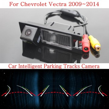 Car Intelligent Parking Tracks Camera FOR Chevrolet Vectra 2009~2014 / HD Back up Reverse Camera / Rear View Camera