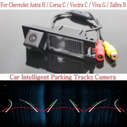 Car Intelligent Parking Tracks Camera FOR Chevrolet Astra H Corsa C Vectra C Viva G Zafira B / Reverse Rear View Camera