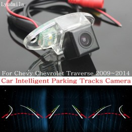 Car Intelligent Parking Tracks Camera FOR Chevrolet Traverse 2009~2014 Back up Reverse Camera / Rear View Camera
