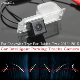 Car Intelligent Parking Tracks Camera FOR Chevrolet Trax For Holden Trax 2013~2015 HD Reverse Camera / Rear View Camera