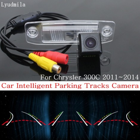 Car Intelligent Parking Tracks Camera FOR Chrysler 300C 2011~2014 / HD CCD Back up Reverse Camera / Rear View Camera