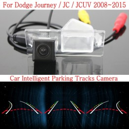 Car Intelligent Parking Tracks Camera FOR Dodge Journey / JC / JCUV 2008~2015 / HD Back up Reverse Rear View Camera