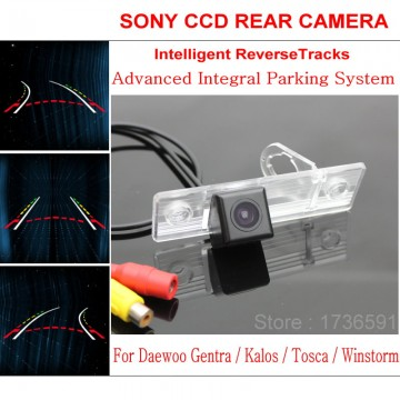 Car Intelligent Parking Tracks Camera FOR Daewoo Gentra / Kalos / Tosca / Winstorm HD Back up Reverse Camera / Rear View Camera
