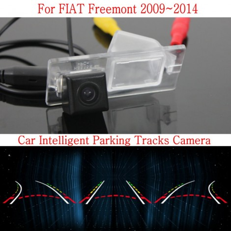 Car Intelligent Parking Tracks Camera FOR FIAT Freemont 2009~2014 / HD Back up Reverse Camera / Rear View Camera