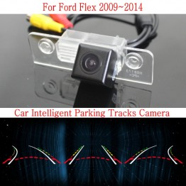 Car Intelligent Parking Tracks Camera FOR Ford Flex 2009~2014 / HD Back up Reverse Camera / Rear View Camera