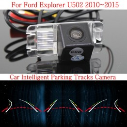 Car Intelligent Parking Tracks Camera FOR Ford Explorer U502 / Back up Reverse Rear View Camera / HD CCD Night Vision