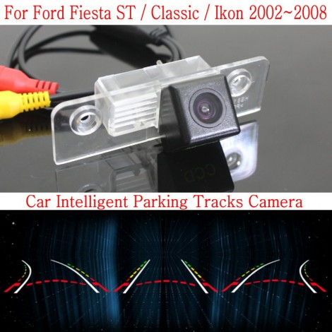 Car Intelligent Parking Tracks Camera FOR Ford Fiesta ST / Classic / Ikon 2002~2008 HD Back up Reverse Camera / Rear View Camera