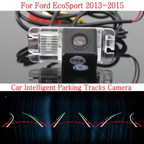 Car Intelligent Parking Tracks Camera FOR Ford EcoSport 2013~2015 / HD Back up Reverse Camera / Rear View Camera