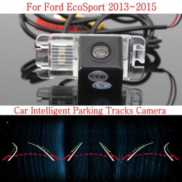 Car Intelligent Parking Tracks Camera FOR Ford EcoSport 2013~2015 / HD Back up Reverse Camera / Rear View Camera