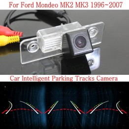 Car Intelligent Parking Tracks Camera FOR Ford Mondeo MK2 MK3 / Reverse Camera / Rear View Camera / HD CCD Night Vision