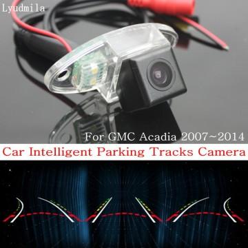 Car Intelligent Parking Tracks Camera FOR GMC Acadia 2007~2014 / HD CCD Back up Reverse Camera / Rear View Camera