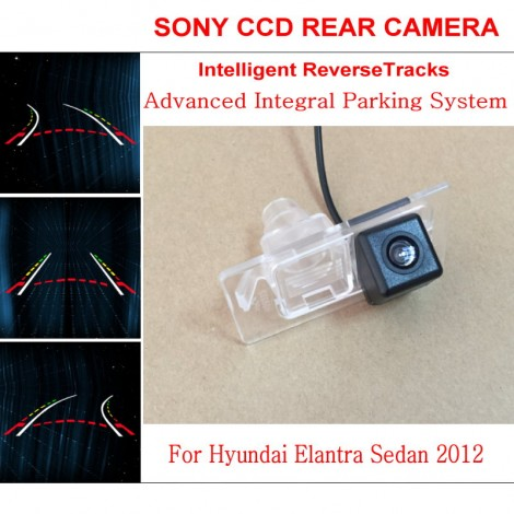 Car Intelligent Parking Tracks Camera FOR Hyundai Elantra Sedan 2012 / HD Night Vision Back up Reverse Camera / Rear View Camera