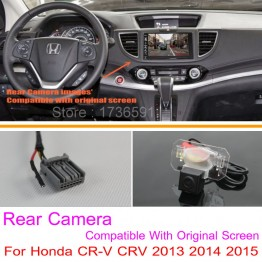 For Honda CR-V CRV 2013 2014 2015 / RCA & Original Screen Compatible / Car Rear View Camera Sets / HD Back Up Reverse Camera